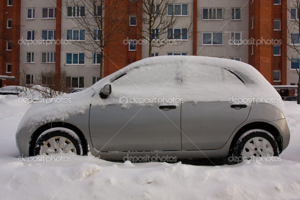 Car in Snowbank