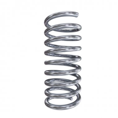 3d render of chrome spring on white