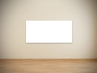Blank frames in art gallery