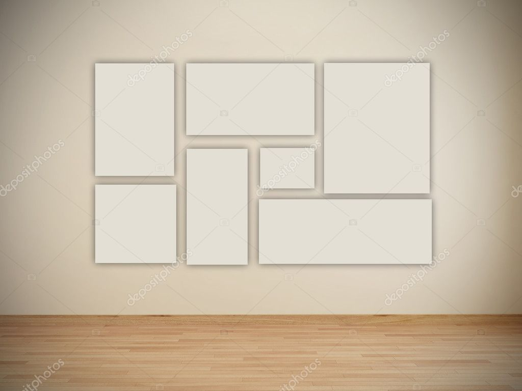 lege frames in art gallery and Museum — Stockfoto © ericmilos #5275426