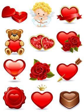Vector illustration - valentine's day icon set clip art vector