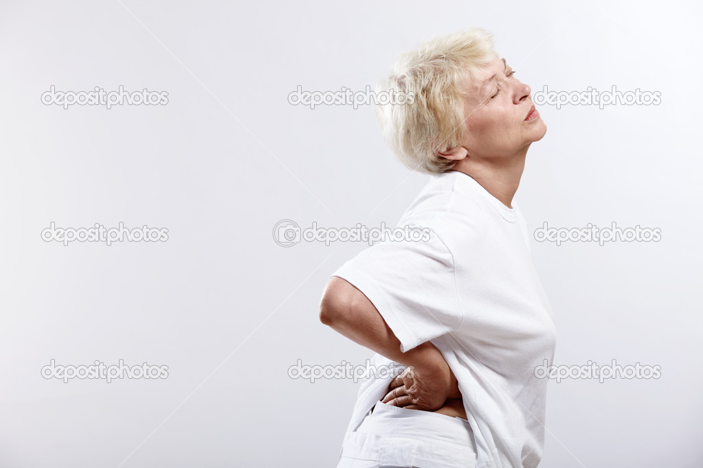 Eldery woman with pain