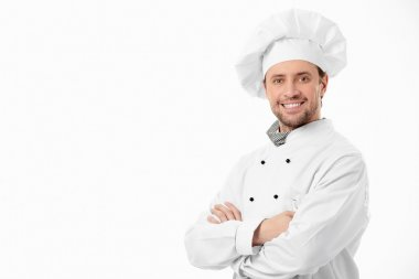Attractive smiling cook