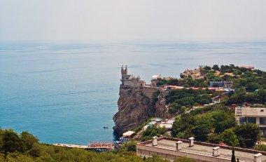 The well-known castle Swallow's Nest near Yalta in Crimea