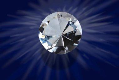 Glowing diamond.