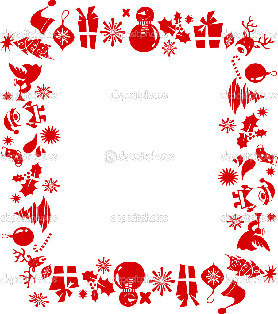 Christmas elements frame stock vector marish 3965365 for Immagini vector