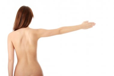 Nude beautiful female body from behind