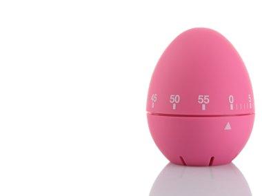Pink egg timer