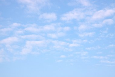 Blue sky and clouds - background