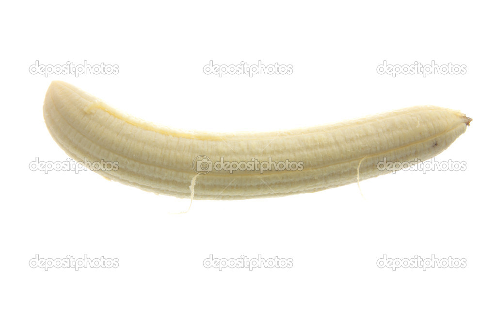 Food Related: Banana isolated on white