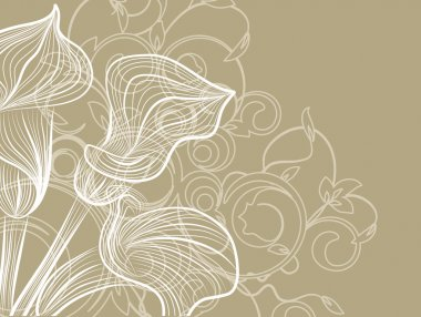 Flower decoratively romantically abstraction illustration