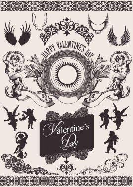 Vector set. Valentine