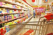 Fotografie Supermarket shelves