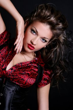 Sexy young and beautiful woman with make-up