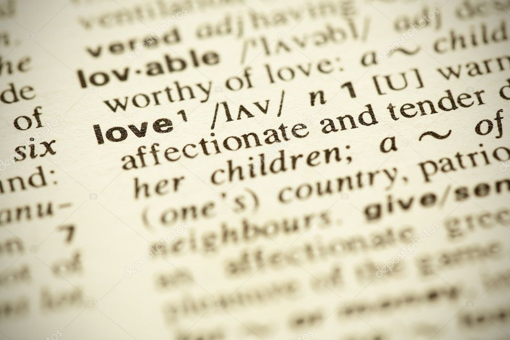 Dictionary Definition Of The Word Love In English Shallow Dof Photo By Ivelin