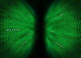 Fotografie zwei Wände des binären Codes
