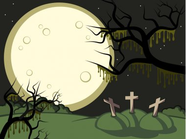 Moon and graves