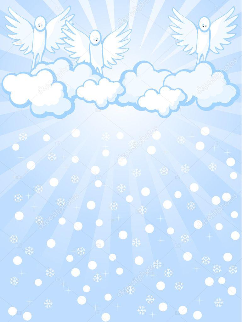 Los ángeles Y Nevadas Vector De Stock Irazavod 4271734