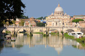 Fotografie View of panorama Vatican City in Rome, Italy