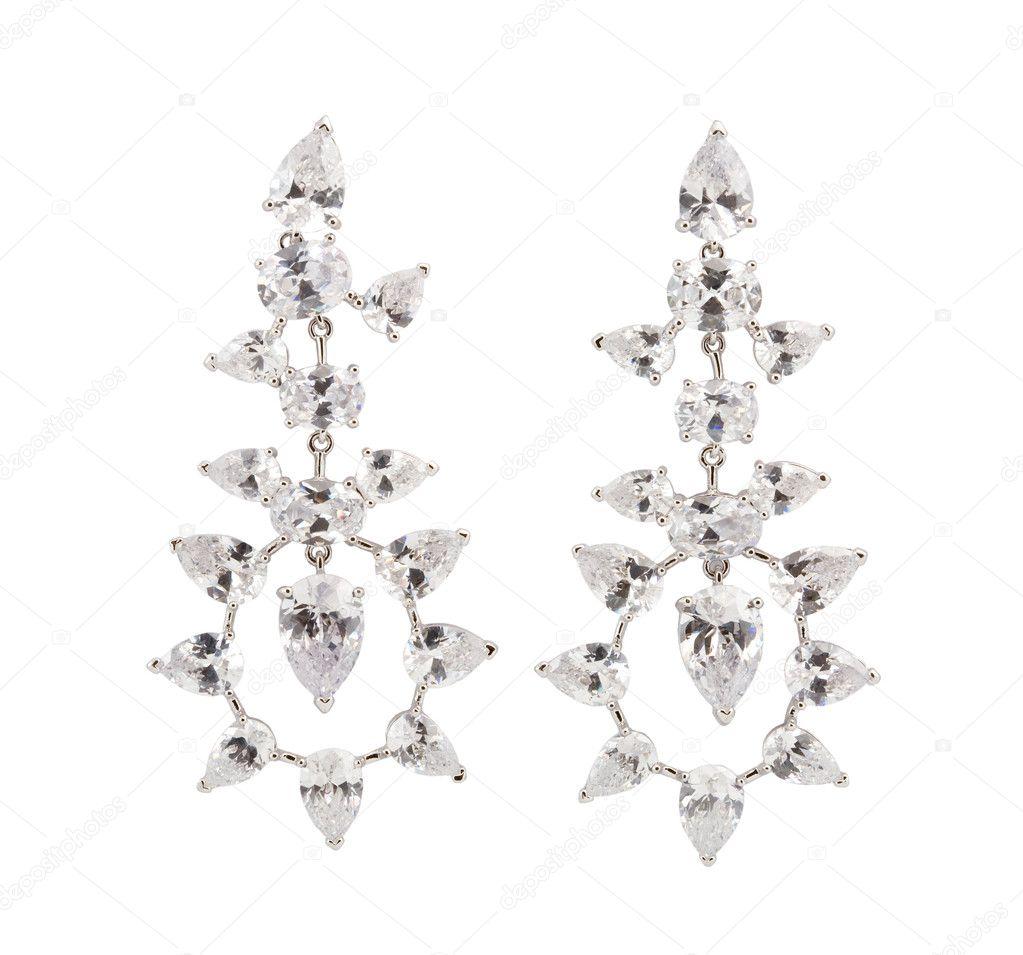 Beautiful earring isolated on white — Stock Photo © nikuwka #4397433