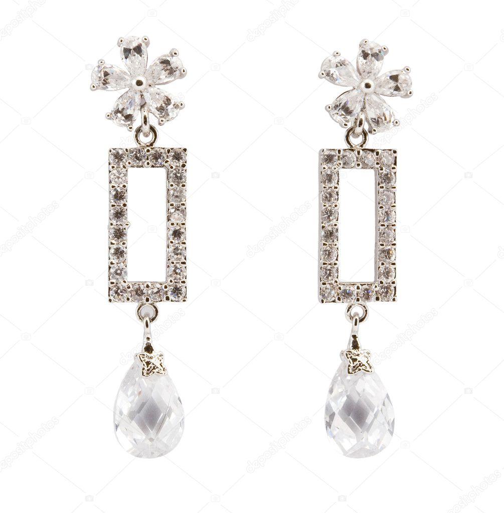 Beautiful earring isolated on white — Stock Photo © nikuwka #4397435