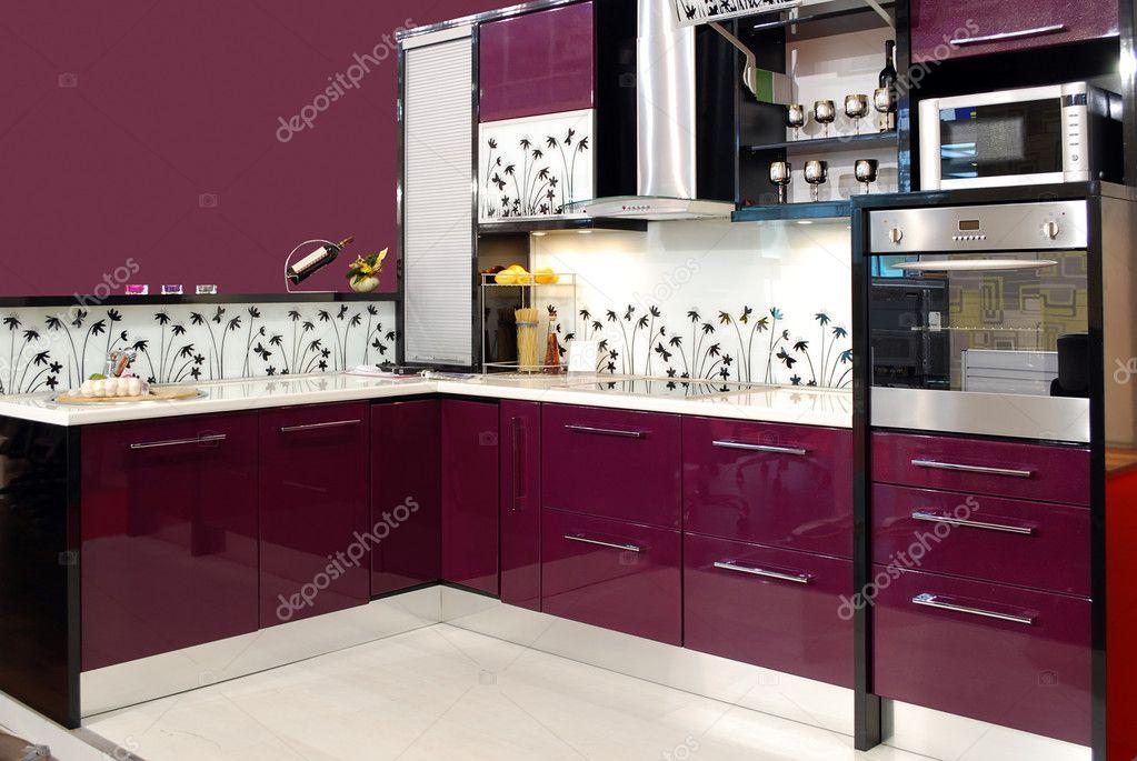 Purple kitchen