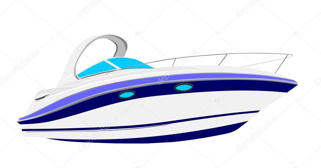 Yacht vector illustration