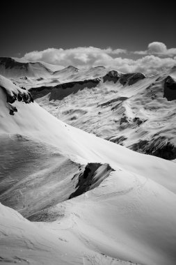 Alps - black and white