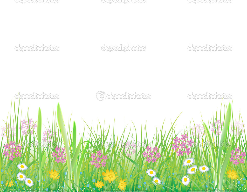 Background with summer meadow
