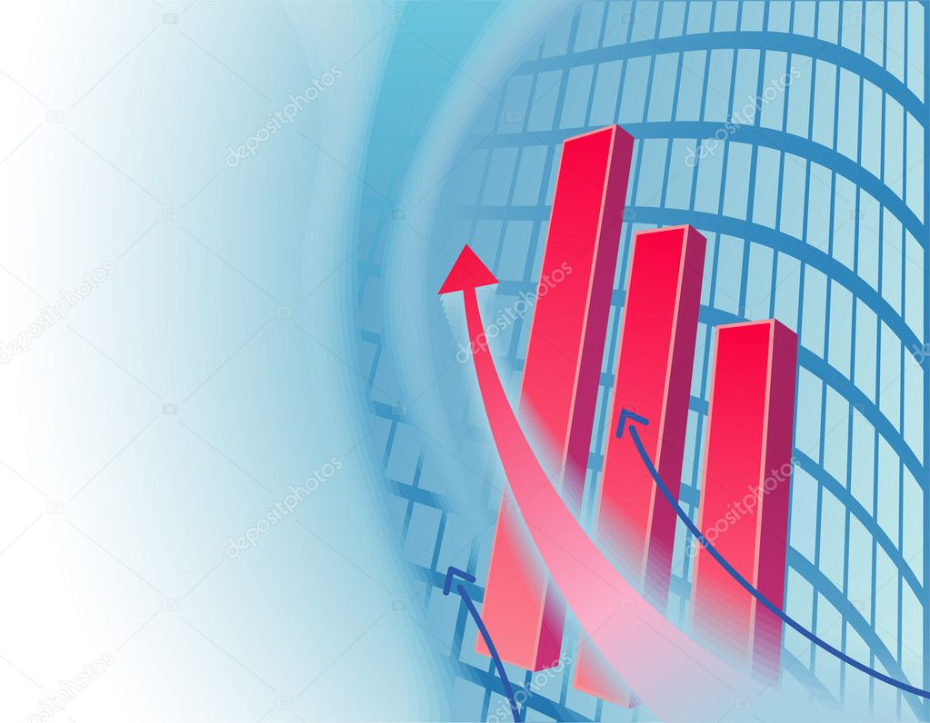 Abstract Business Background With Chart