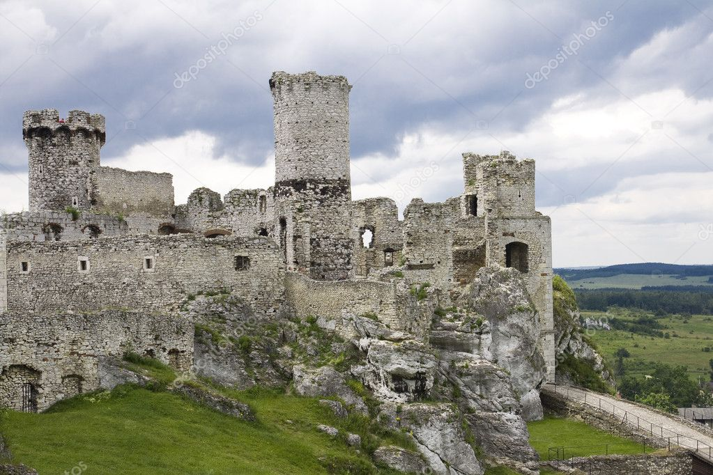 Old castle ruins in Poland in Europe — Stock Photo ...