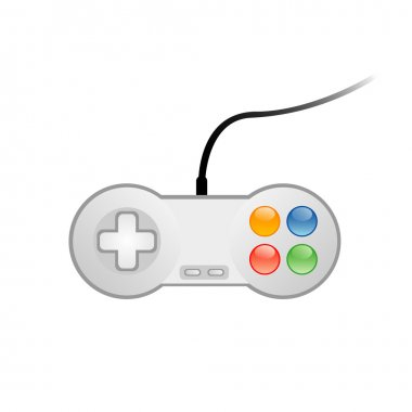 Vector illustration of console joystick stock vector