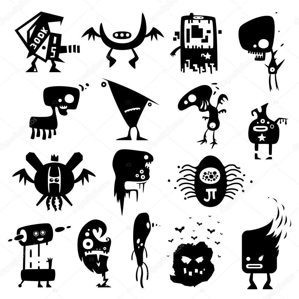 Monstres rigolos image vectorielle artenot 5360879 - Images de monstres rigolos ...