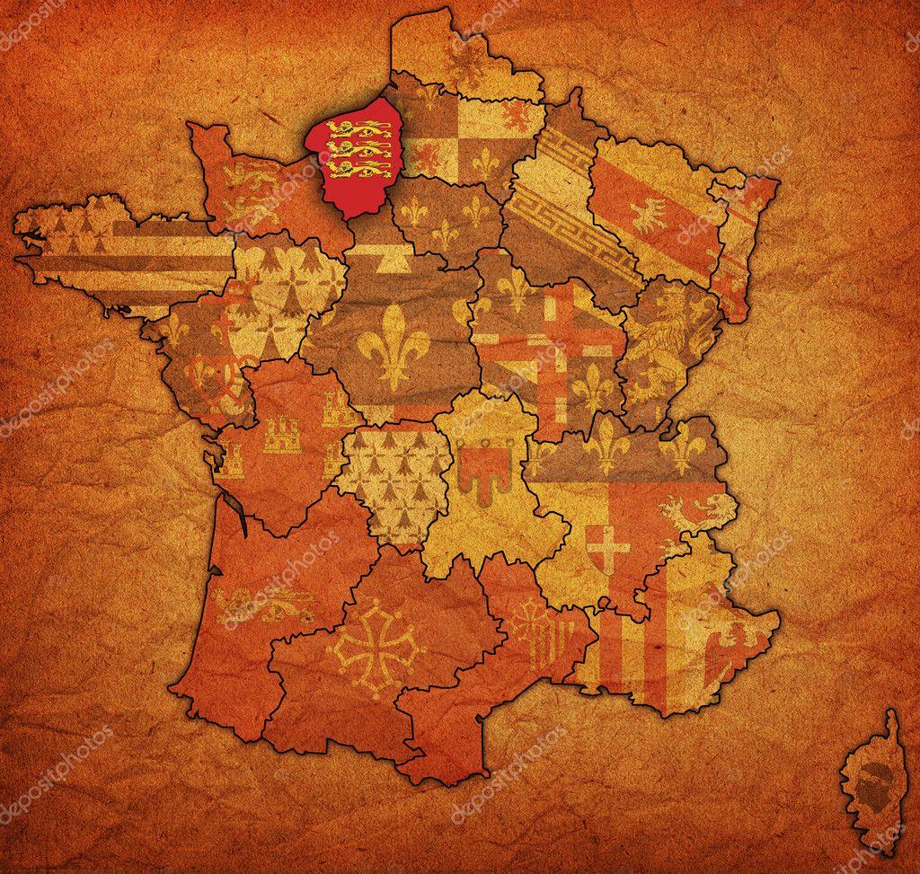 karta över frankrike normandie Haute Normandie — Stockfotografi © michal812 #5043508 karta över frankrike normandie