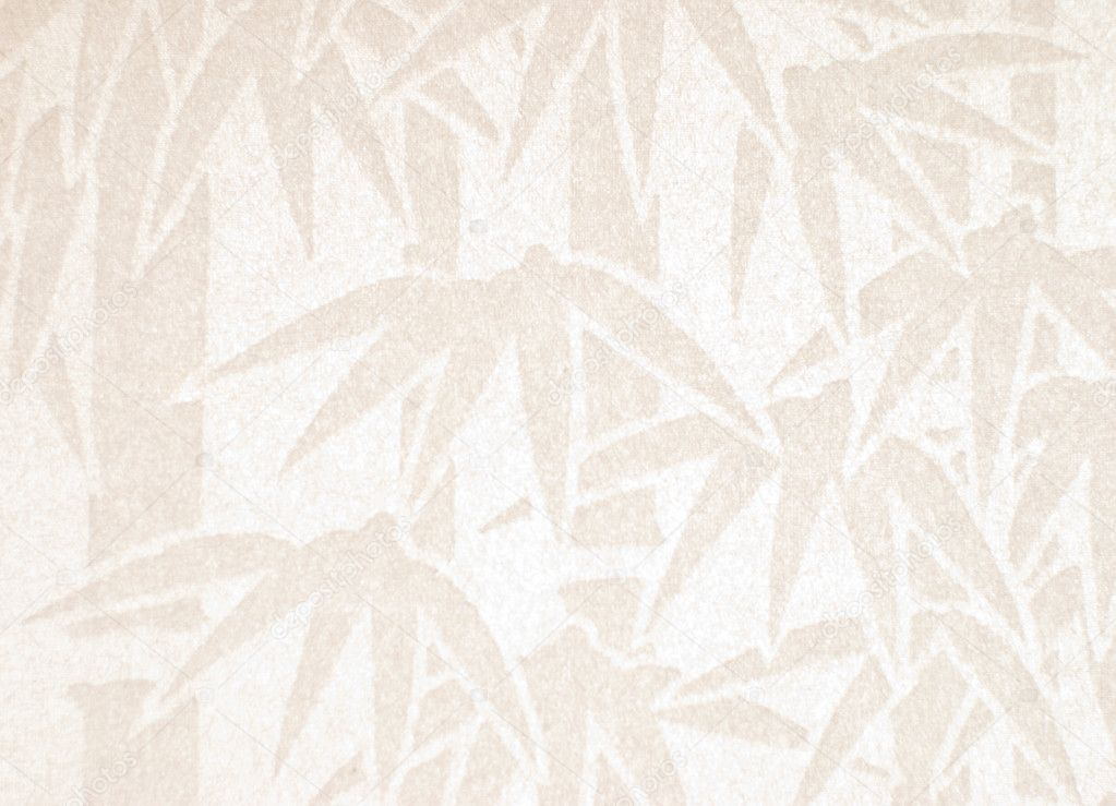 Handmade white paper with bamboo pattern