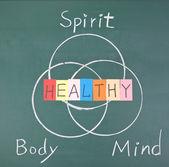Zdravý koncepce, duch, tělo a mysl
