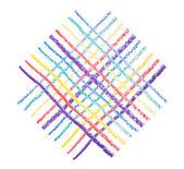 kézi rajz vonalak színes zsírkréta