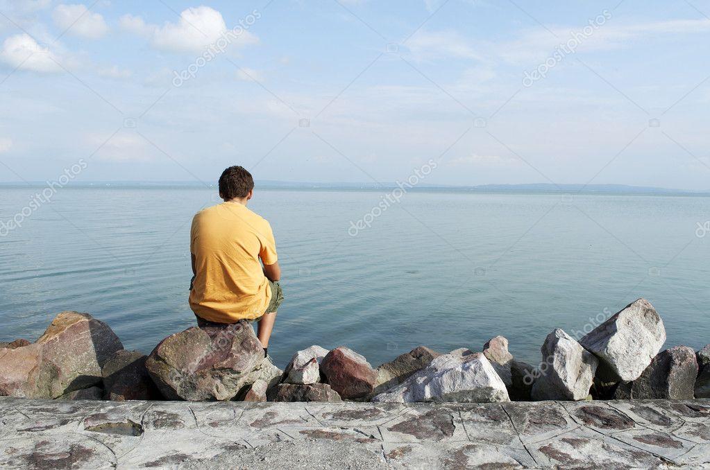 Alone at Lake balaton