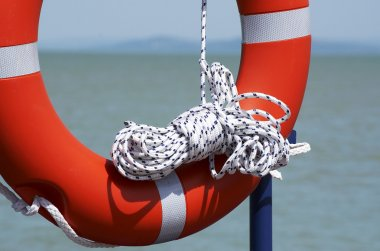 Life-rescue ring is standby