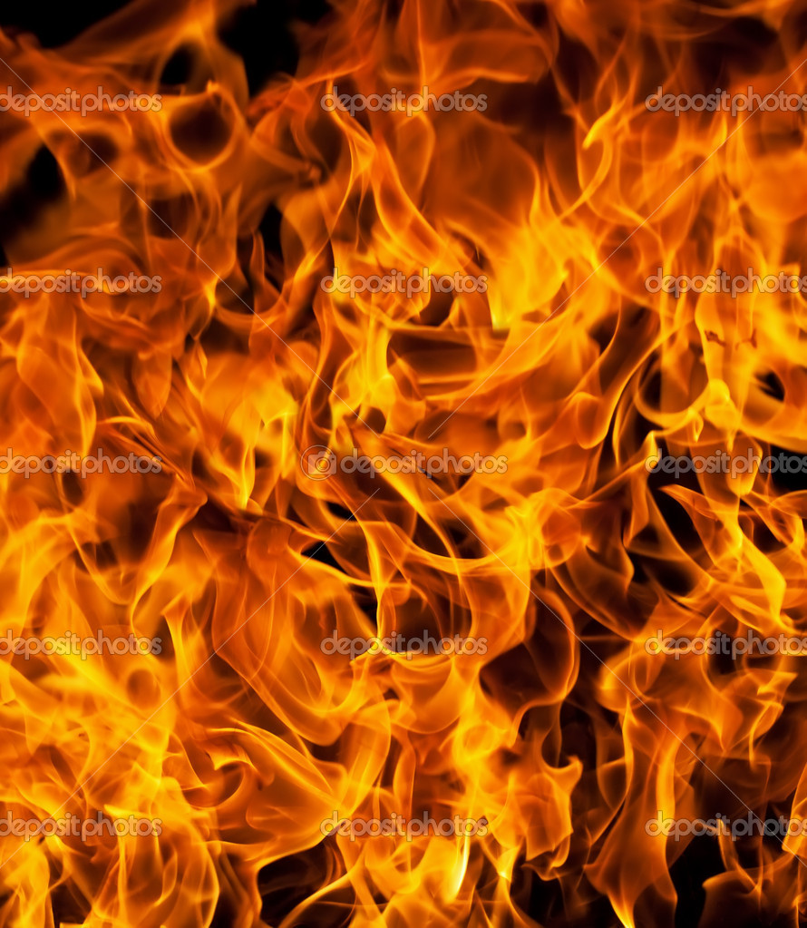 Closeup of fire flames
