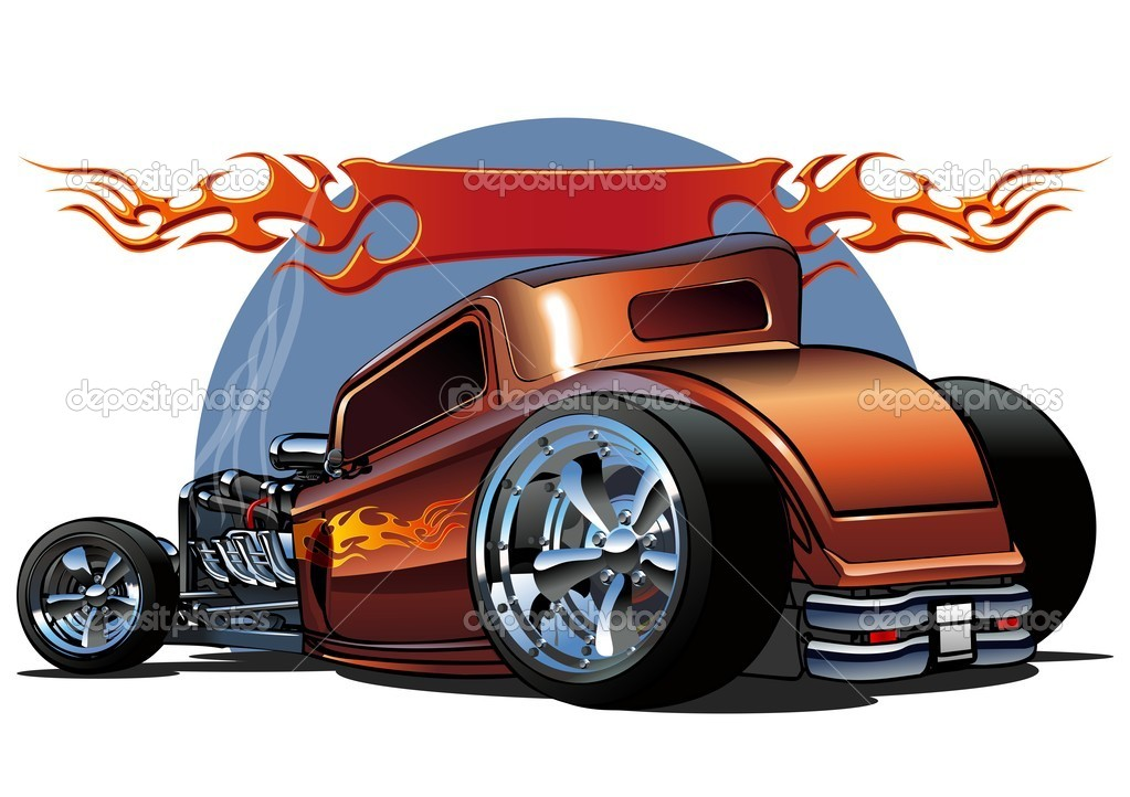 Cartoon Coloring Hot Rod Free Coloring Pages