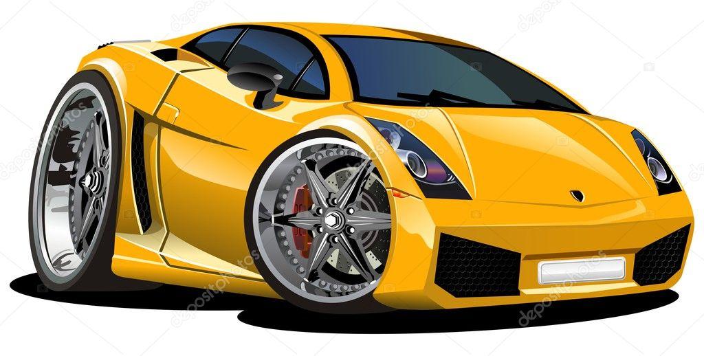 Vettore moderno cartone animato auto