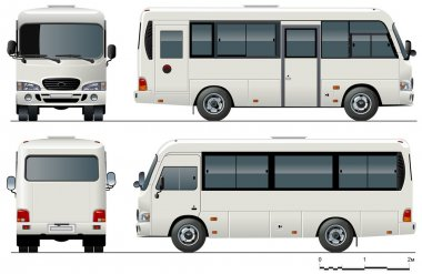Vector urban mini-bus