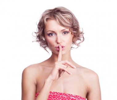 Woman saying hush