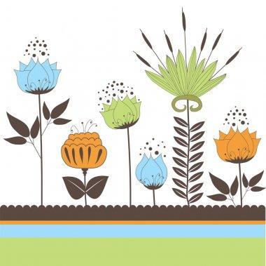 """Картина, постер, плакат, фотообои """"background with flowers for you. vector illustration"""", артикул 5173411"""
