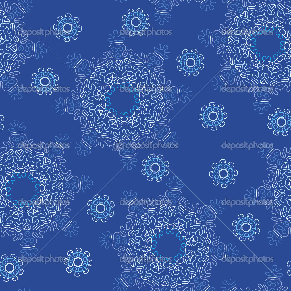 Seamless snowflake pattern — Stock Vector © bonathos #4375477