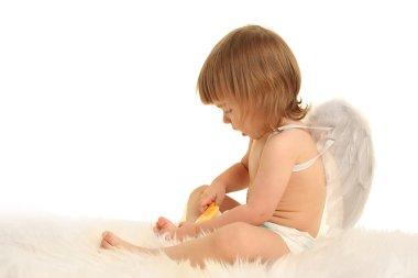 Cupid on white