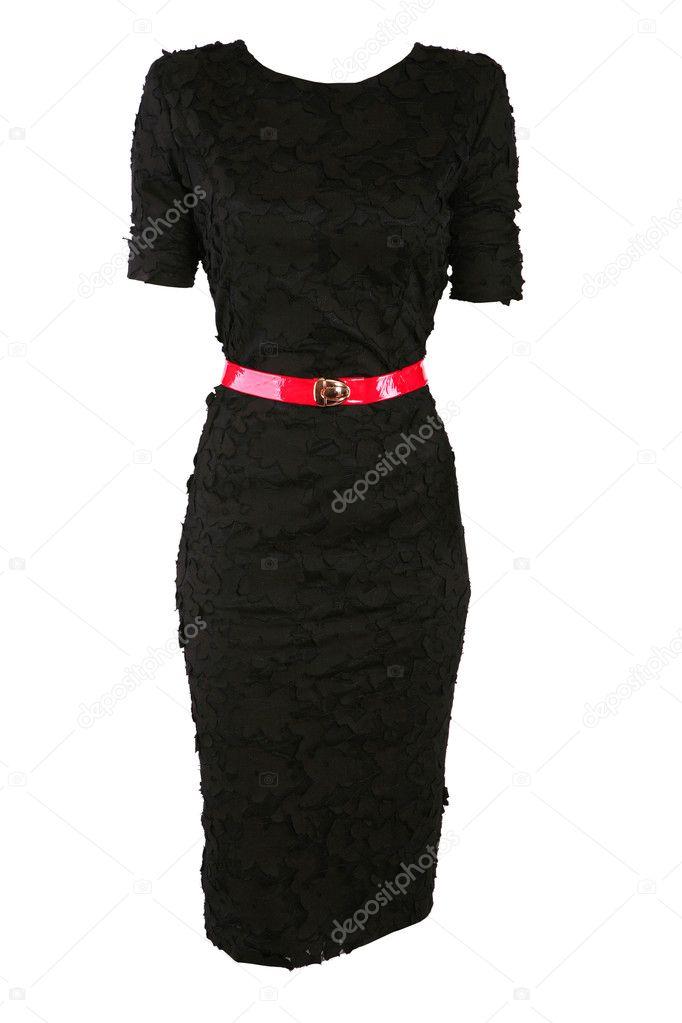 Black Dress Red Belt