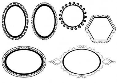 Set of vector black frames