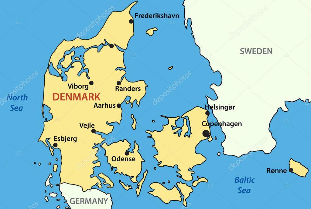 Vector Map Of Denmark Stock Vector C Pavalena 5326171